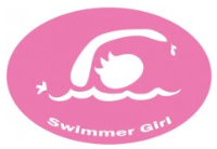 Swimmer Girl Decal (PINK)